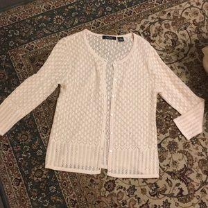 Stunning crochet like cardigan.